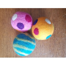 Felted Wool Balls - 3 Pack